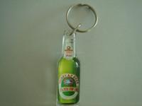 bottle shape clear plastic acrylic keychains