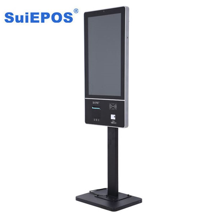 Wall mounted self-service terminal totem lcd display printer touch screen kiosk