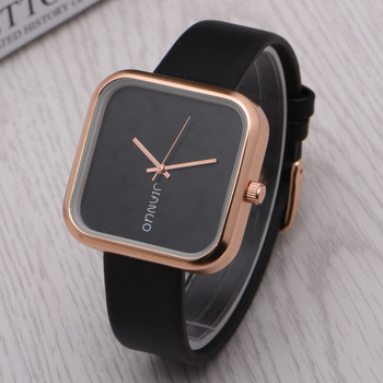 automatic watches zoom watch black square big faced loading