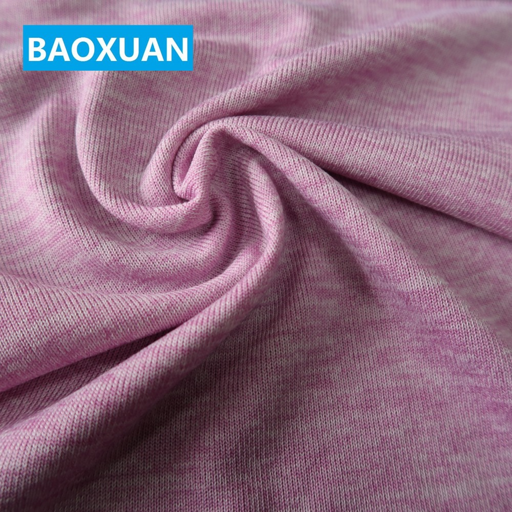 Polyester spandex extensible double teinte poly span tricot 97% T 3% SP jersey tricot tissu