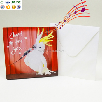 Popular surprising gift handmade teachers day greeting card with music chip