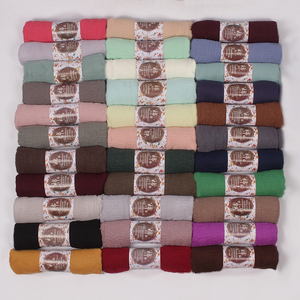 Wholesale Crinkle Cotton Polyester Fancy Muslim islamic scarf women hijab