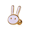 Factory Price Gold Plated Cute Animal Ear Tragus Straight Barbell Jewelry