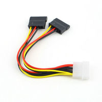 4Pin IDE Male to SATA Y Splitter Female HDD Power Cable
