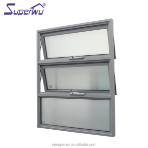 China Alibaba aluminum tempered glass chain awning window