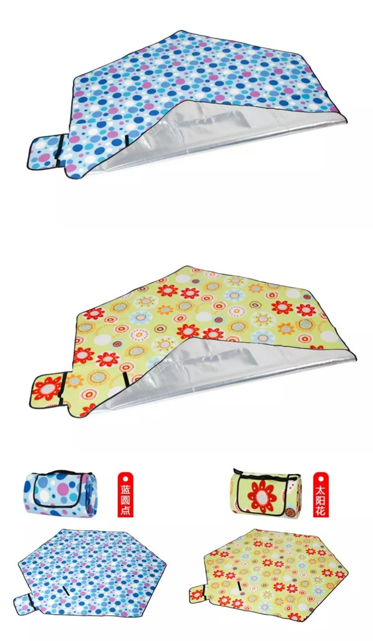 Beautiful Design Camping Picnic blanket, Outdoor Foldable Picnic mat, 6 Corners Picnic pad