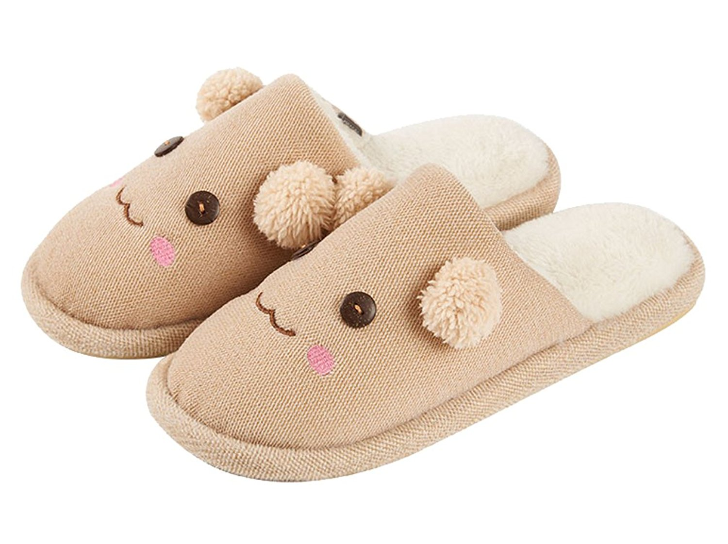 6bfee559f0a Get Quotations · Cattior Mens Cute House Indoor Funny Slippers Fluffy  Slippers