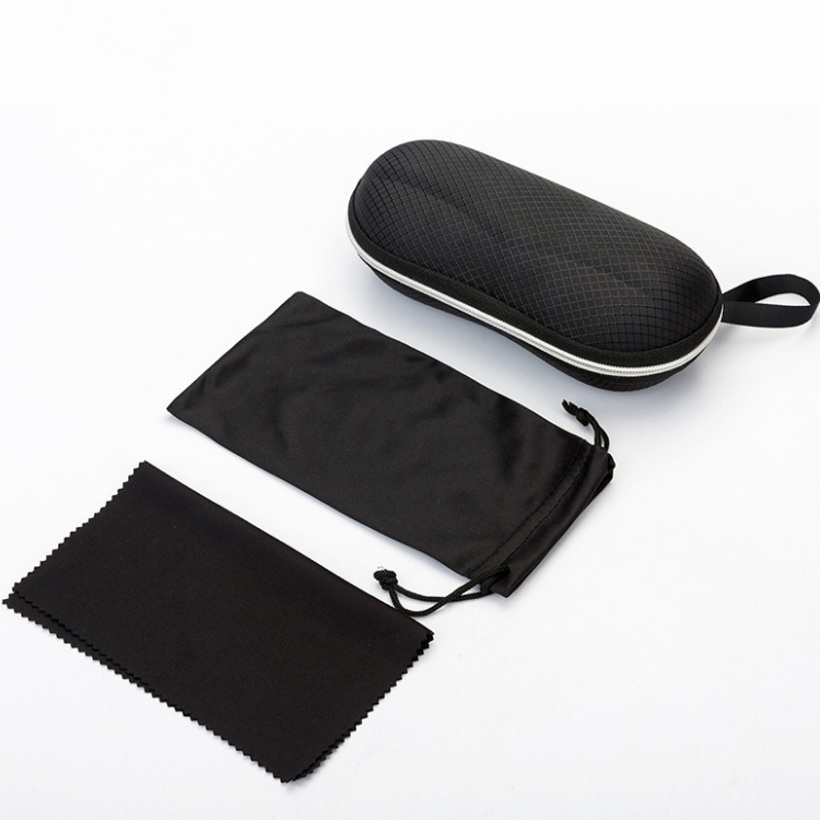 HJ Wholesale Hight Quality Hardboard Eyewear Case PU Triangle Folding EVA Zipper Glasses Bag