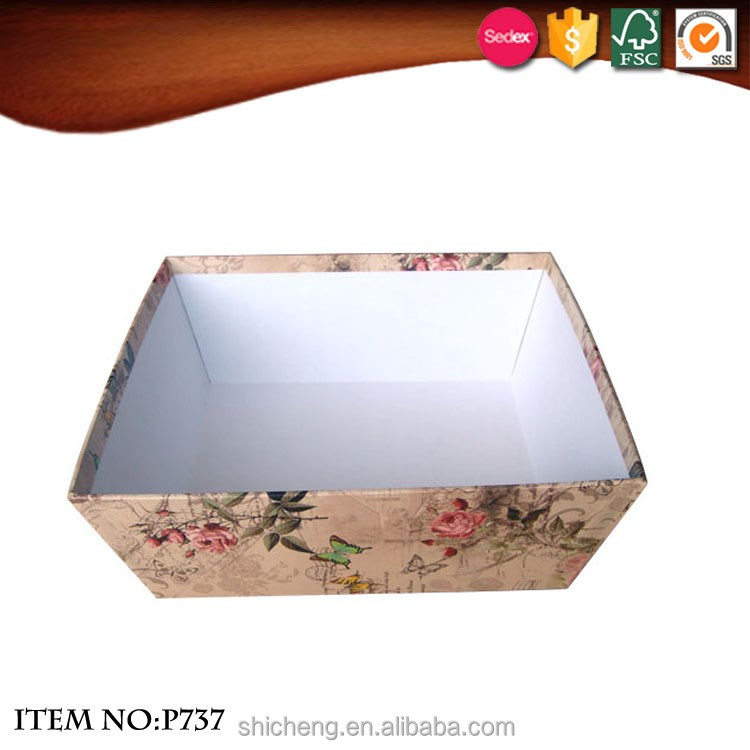 Office Trapezoidal Pattern Paper Cardboard Storage Stationery Boxes