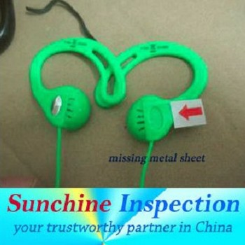 Earphones quality control inspection,Testing service in China,Pre-shipment Inspection,