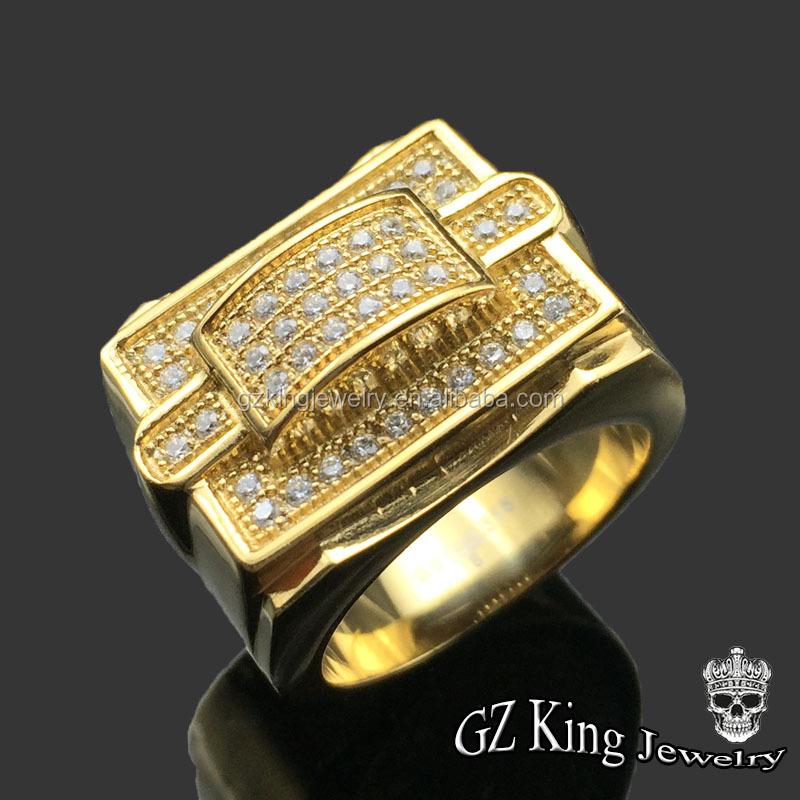 American Diamond Rings 14k Gold Boys Finger Rings China - Buy 14k ...