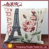 China wholesale jacquard fabric flower body pillow