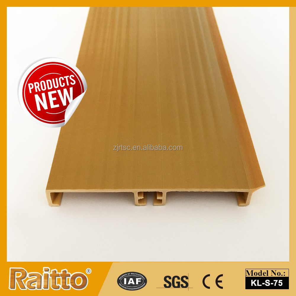 Waterproof kitchen cabinet PVC skirting board for kitchen