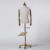 Good quality fabric male mannequin torso with wheeled base