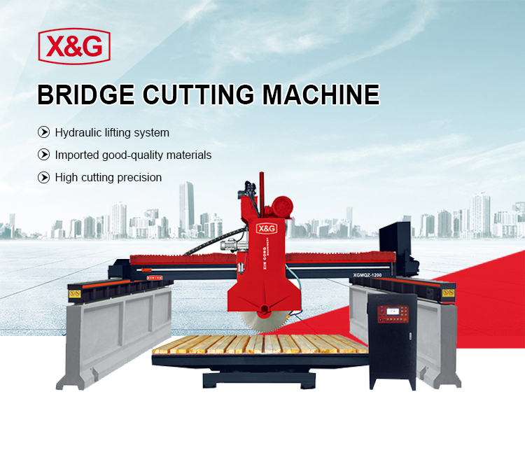 Granite bridge multi blade block stone cutting machine