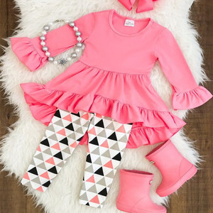 China cheap wholesale cotton baby girls clothes fall winter children's boutique clothing