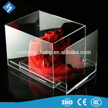 Fast delivery acrylic shoe box for nike With Long-term Service