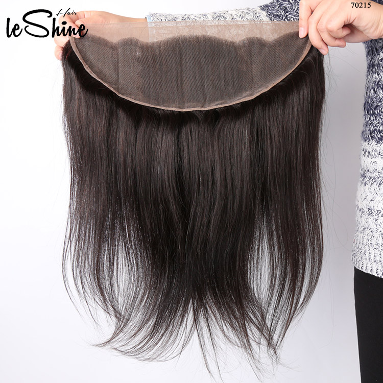 Remy Human Virgin Hair Extensions Weave Lace Frontal Closure With Baby Hair Wholesale