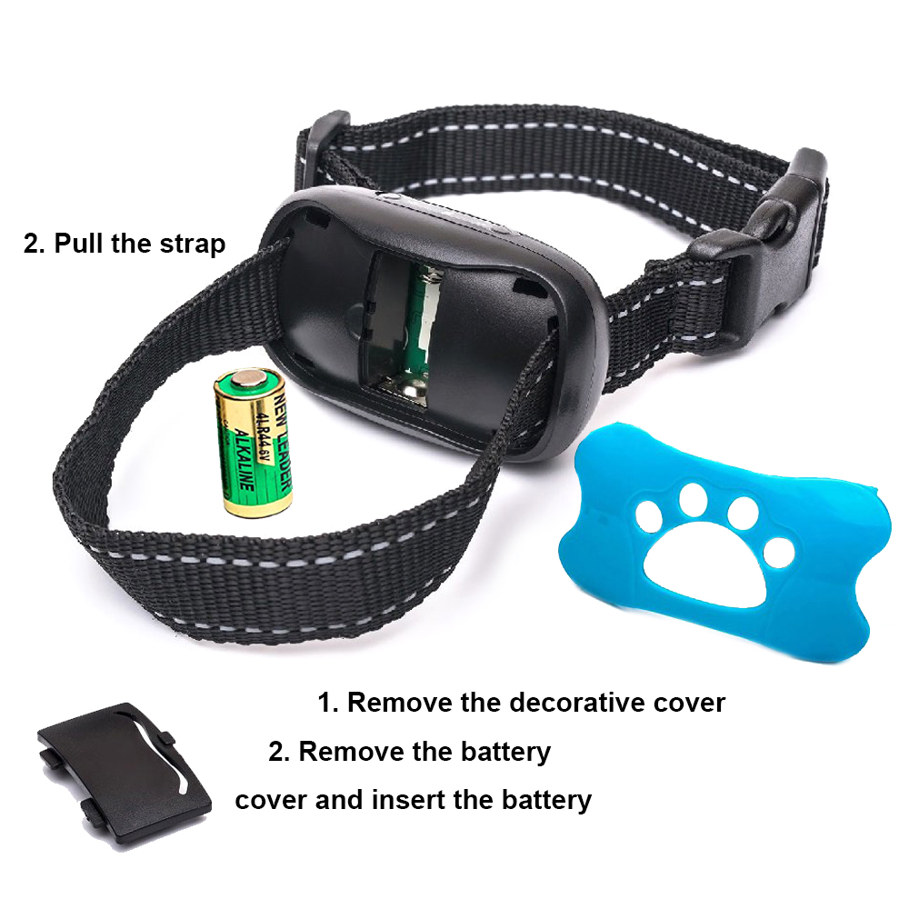 High Quality Patent Design Humane Vibration Barks Control Collar Automatic bark collar