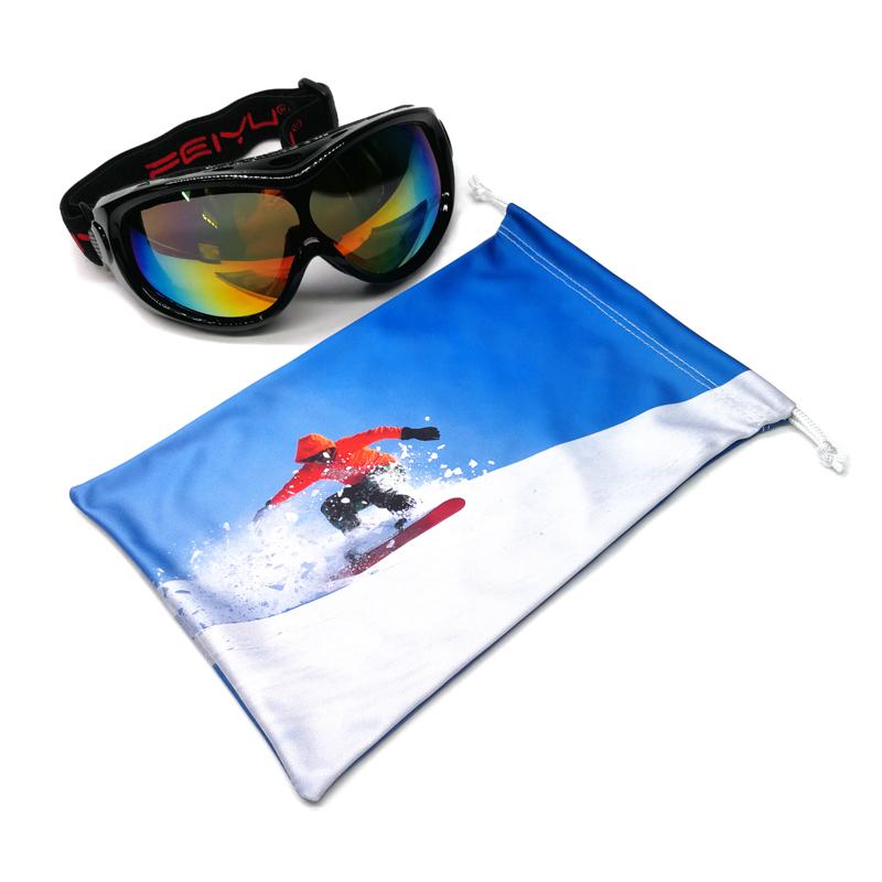 공장 custom printed 마이크로 화이버의 셔닐 실 고글 soft bag pouch