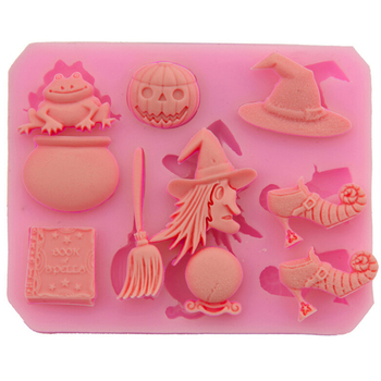 3D Halloween Skeleton Easter Witch supplies silicone chocolate molds