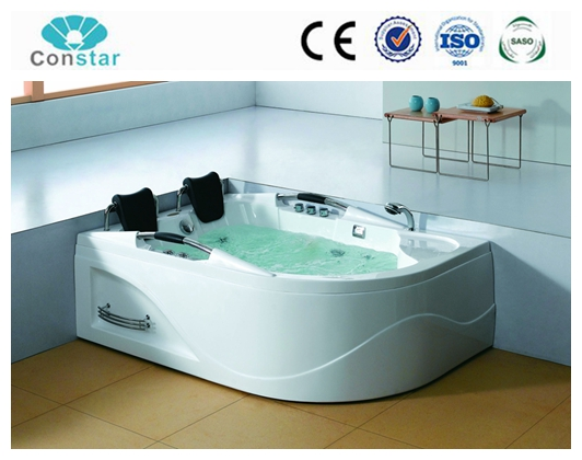 180*120 left corner complete bathroom whirlpool massage bathtub