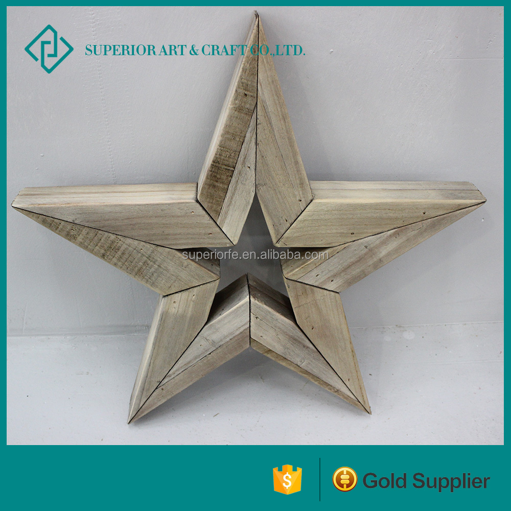 Wood Craft Carving Wooden Hand Star Wood Carving Star