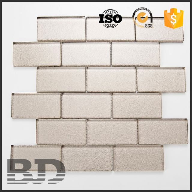 easy to clean and maintain metallic mosaic glass brick for sale