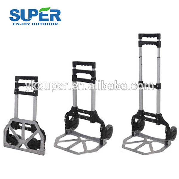 Heavy duty warehouse hand cart push truck folding hand trolley