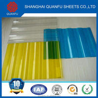 fire resistant pvc and pc corrugated sheet 3mm thick polycarbonate subway exits 16mm {10)