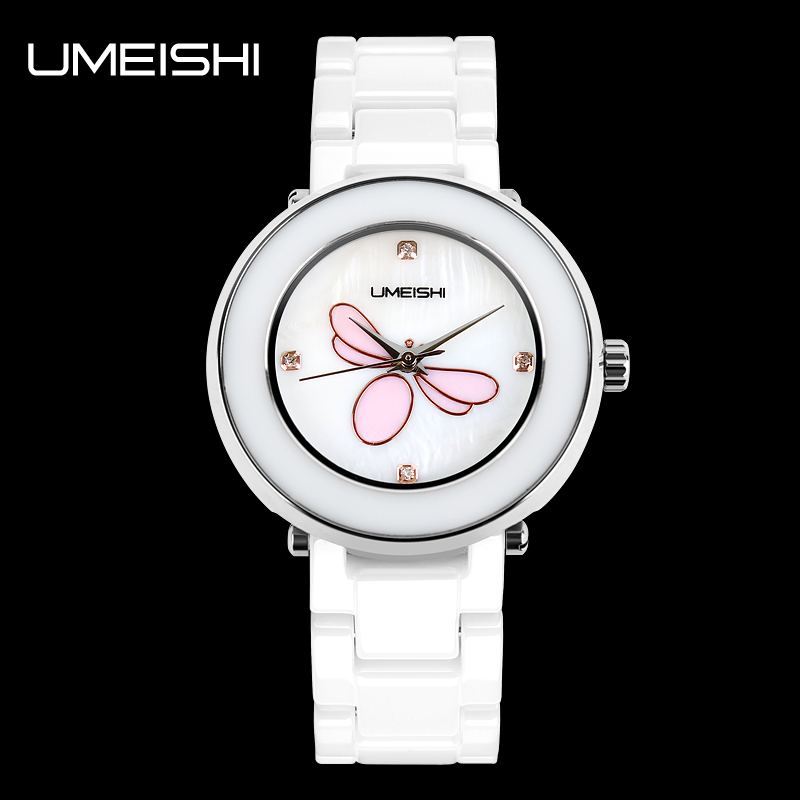 2014 Ladies Pearl White Ceramic Strap Luxury Watch Brand List New ...