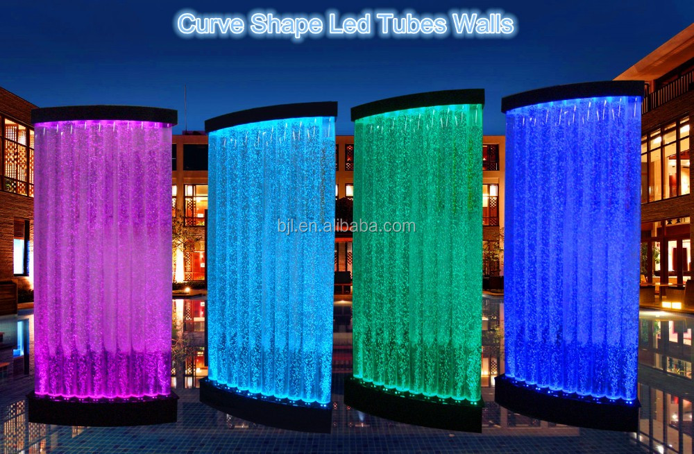 acrylic glass sheet water bubble indoor wall fountain room dividers screen - Glass Sheet Hotel Decorating