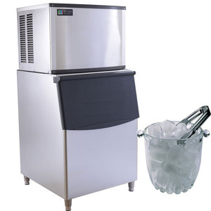 Commercial usage ice making machine with 250Kg/day output capacity and imported compressor