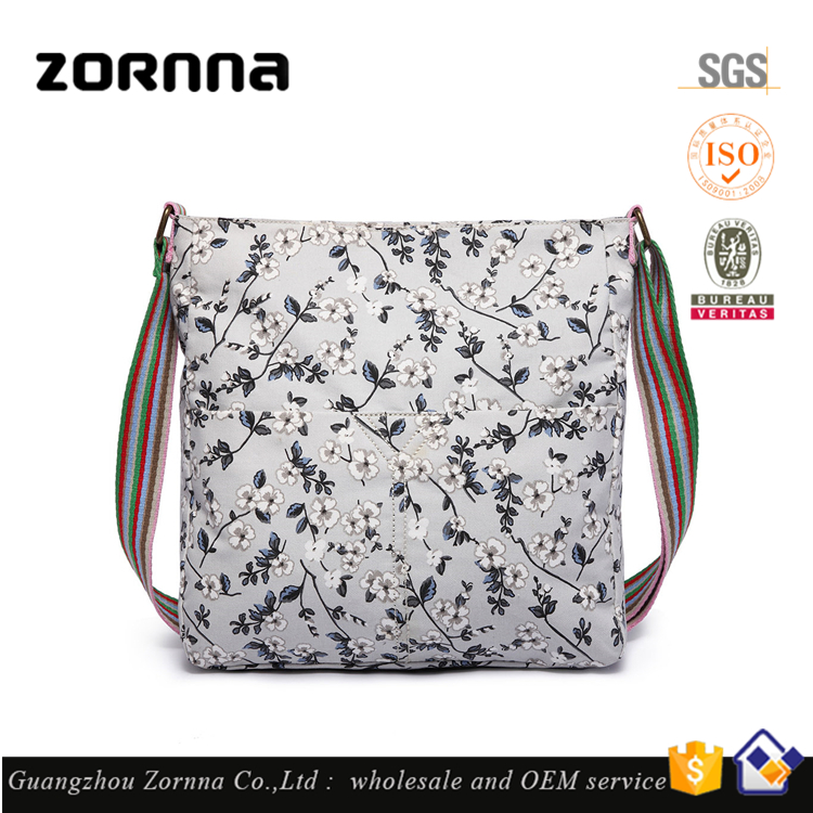 Zornna Hot Selling Cusotmzied Printed Canvas Crossbody African Bag