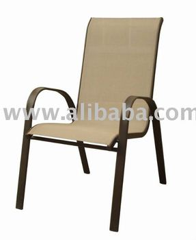 Outdoor Patio Furniture Promotional Sling Stacking High Back Garden Chair