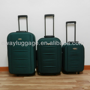 stocklot 3pcs outer trolley luggage set size 19''23''27'' shandong silk