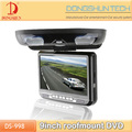 9 inch roof mount dvd player with TFT-LCD monitor USB SD slot