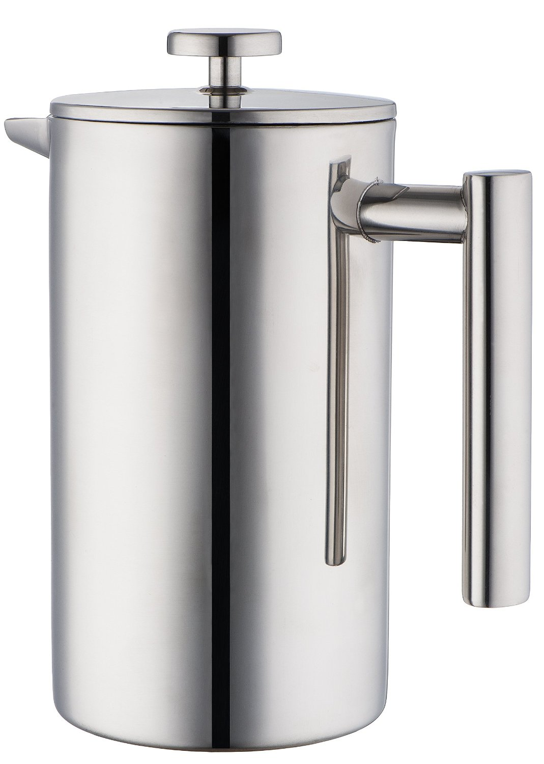MIRA Stainless Steel French Press Coffee Maker | Double Walled Insulated Coffee & Tea Brewer Pot & Maker | Keeps Brewed Coffee or Tea Hot | 20 Oz (600 ml)