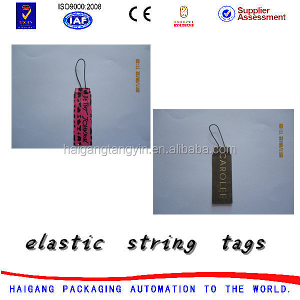 Hang tags lable rolls,elastic string price tag, price display card