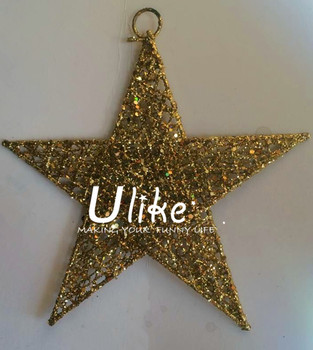 glitter star decorations metal lighted star christmas star shape outdoor metal christmas decoration - Metal Christmas Decorations