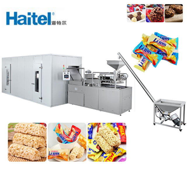 HTL-T888A/B full automatic grian/oatmeal chocolate snake bar equipment machine