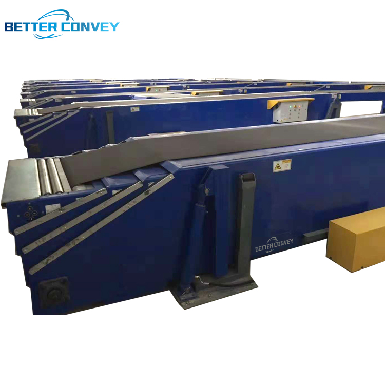 Heavy-duty Loading Telescopic Belt Conveyor for Sorting center / Logistic and containers, Expandable Conveyor