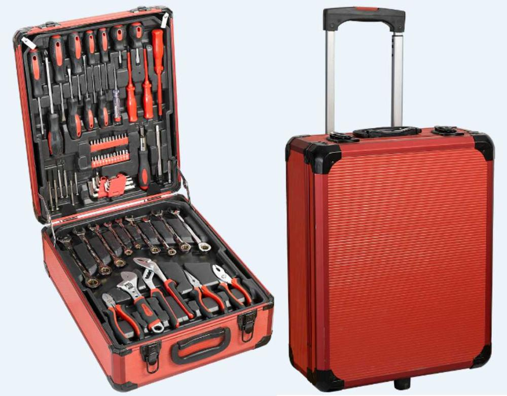 186 pcs ratelsleutel tool set, TITANIUM GOUD/399 pc tool box set