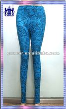 2012 New styles printed tights legging with brush inside for women