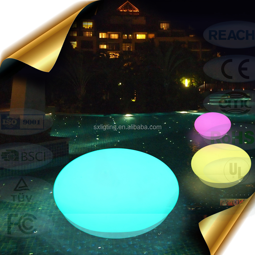 Best price christmas LED plastic ball ornament LED ball light outdoor glow swimming pool oval ball