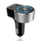 2019 OEM ODM Latest Amazon smart voice Alexa car charger BT4.2 CE car charger MP3 player support QC3.0 quick charging in car