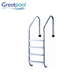 Pool system fitting Stainless steel 304 and 316 folding swimming pool ladder steps
