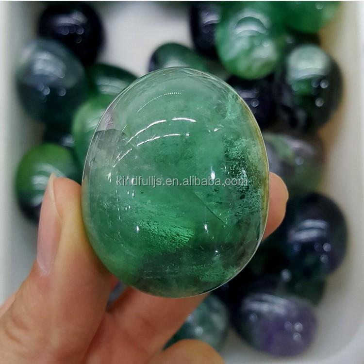 Antiques Fluorita Arcoiris De China Talla Huevo