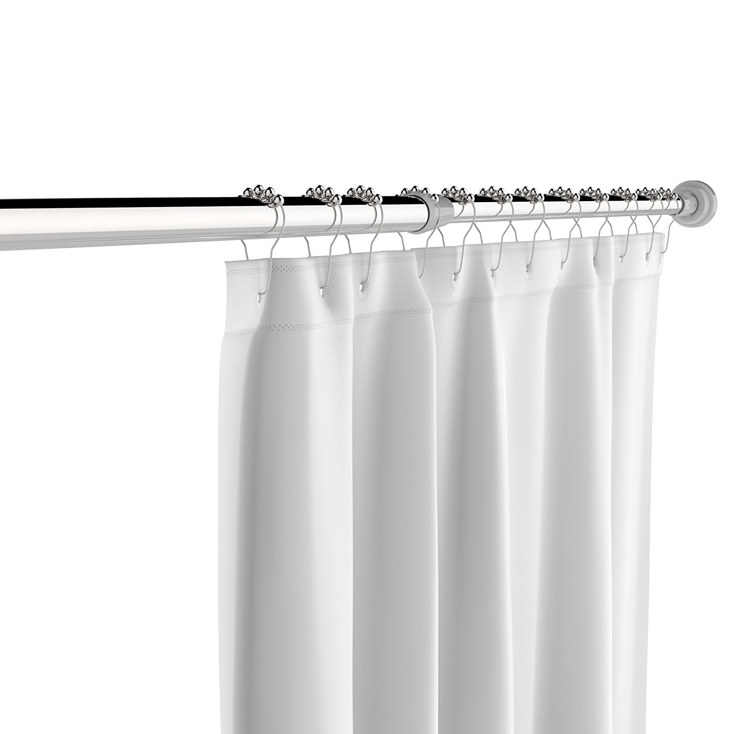 Get Quotations Stainless Steel Tension Shower Curtain Rod By The C H O Easily Adjusts Between 45 And 78