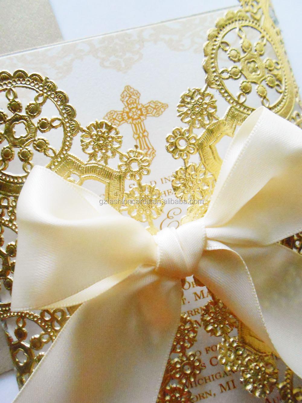 Doily Style Metallic Gold Invitation,Foil Paper Wedding Invitations ...